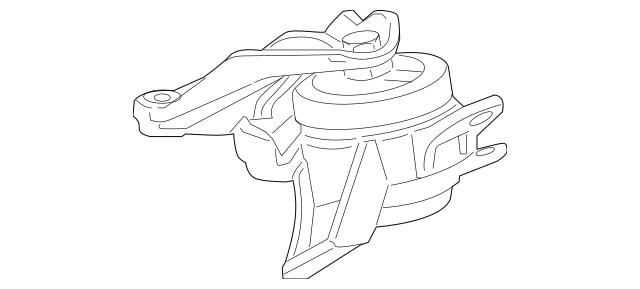 Original Rubber Assembly, Transmission Mounting (Upper