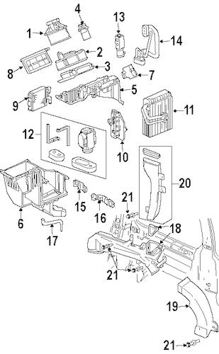 Condenser, Compressor & Lines Parts for 2003 Oldsmobile