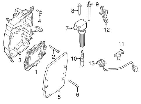 2012-15 Ford Focus CMax Engine Control Module Bracket