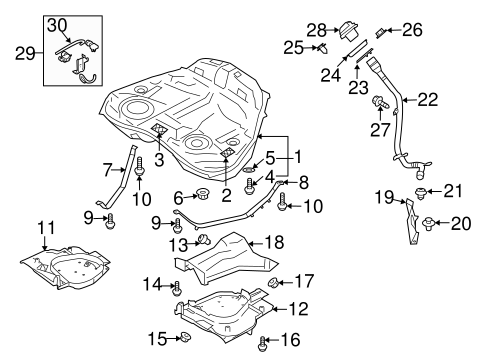 FUEL SYSTEM COMPONENTS for 2009 Subaru Tribeca