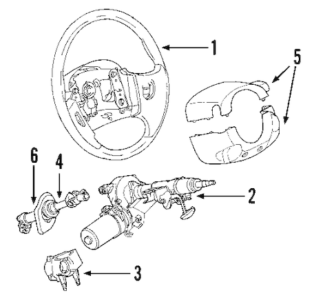 STEERING COLUMN Parts for 2004 Saturn Vue