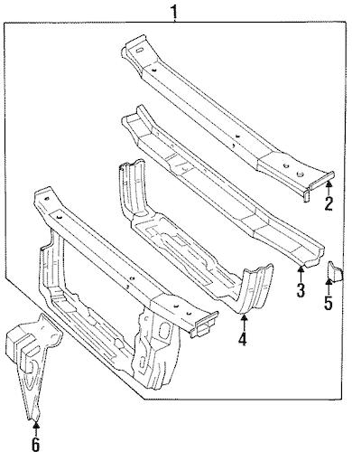 OEM 1998 Chevrolet Lumina Radiator Support Parts