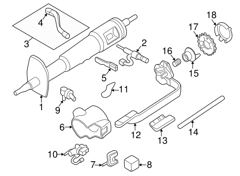 OEM Steering Column Assembly for 1994 Chevrolet S10