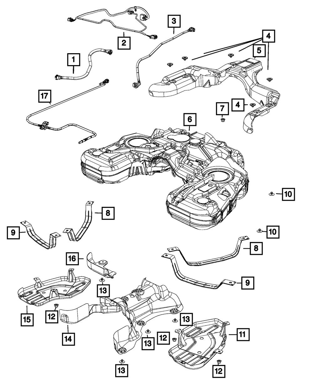 OEM NEW 2011-2020 Mopar Jeep Grand Cherokee Dodge Fuel