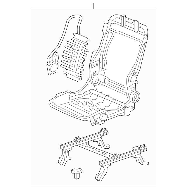 2017-2020 Honda RIDGELINE SEDAN Frame, R Rear Seat Cushion