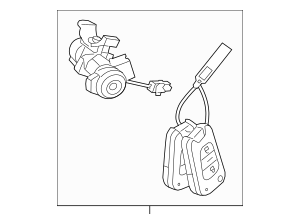 Genuine OEM Steering Lock Part# 81900-1UA00 Fits 2011-2013