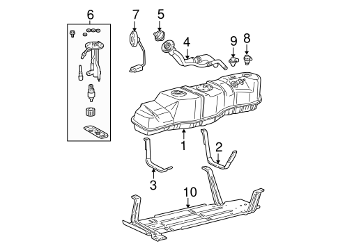 Fuel System Components for 2000 Ford Expedition