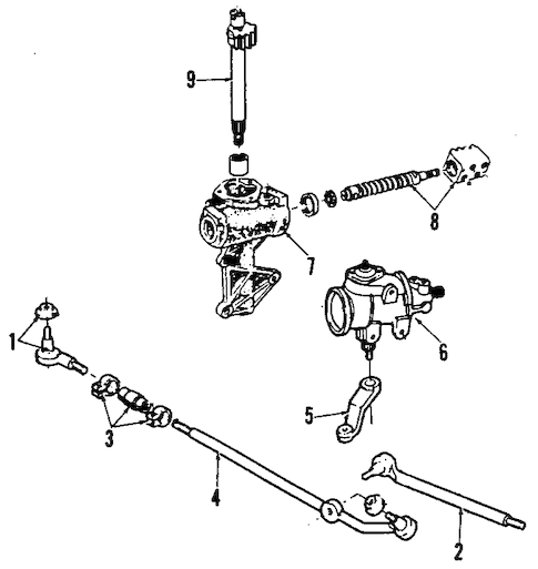 STEERING GEAR & LINKAGE for 1991 Ford F-150