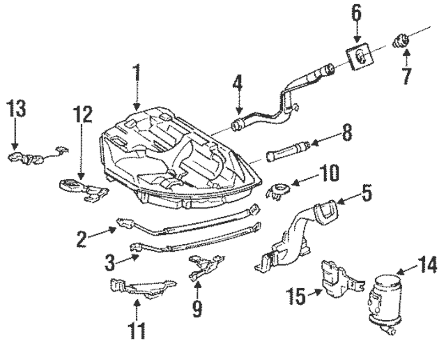 1992-2000 Honda Band Assembly, L Fuel Tank Mounting 17522