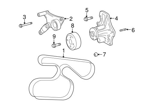 Genuine OEM Belts & Pulleys Parts for 2009 Scion xB Base