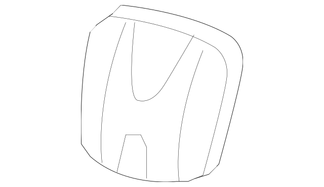 Genuine 2007-2009 Honda CR-V 5-DOOR Plate, Emblem 71129