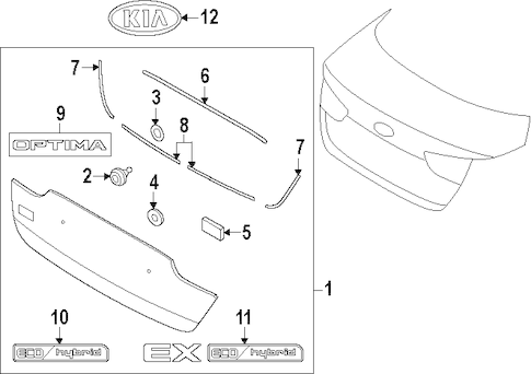 MOLDING ASSY CLIP for 2014 Kia Optima|92552-36000