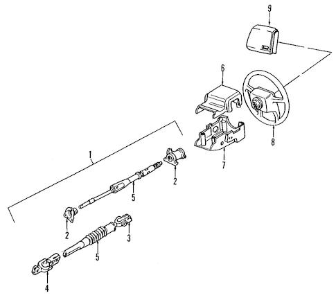 Volvo 240 Steering Column, Volvo, Free Engine Image For