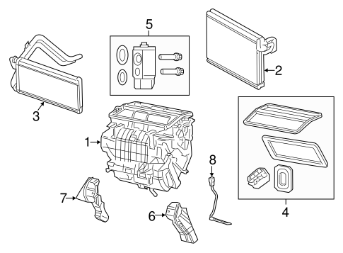 Evaporator & Heater Components for 2012 Jeep Patriot