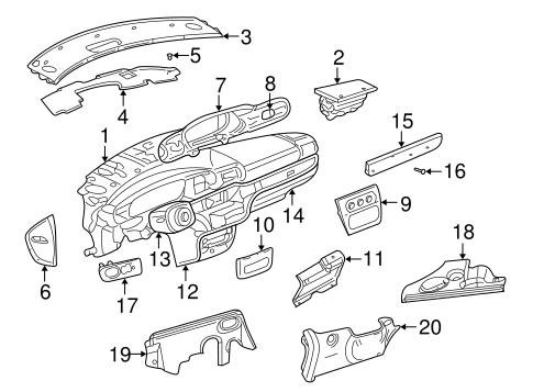 Instrument Panel for 2003 Chrysler Sebring