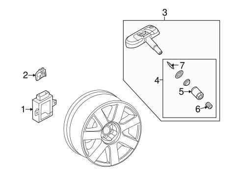 Tire Pressure Monitor Components for 2012 Audi TT Quattro