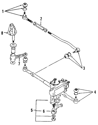 STEERING GEAR & LINKAGE for 1998 Chevrolet Tracker