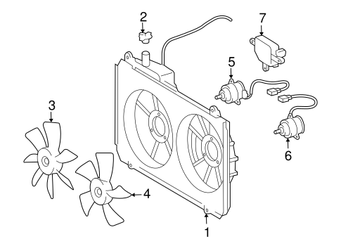 Genuine OEM Cooling Fan Parts for 2006 Toyota Sienna LE