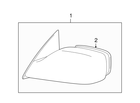 Genuine OEM Outside Mirrors Parts for 2006 Toyota Avalon