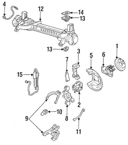 OEM 1993 Cadillac Allante Rear Brakes Parts