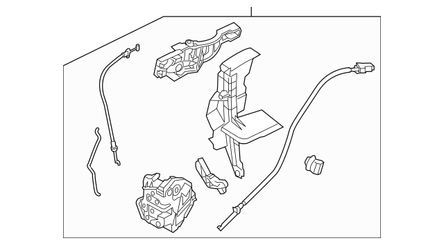 2012-2018 Ford Focus Latch Assembly F1EZ-54219A65-F