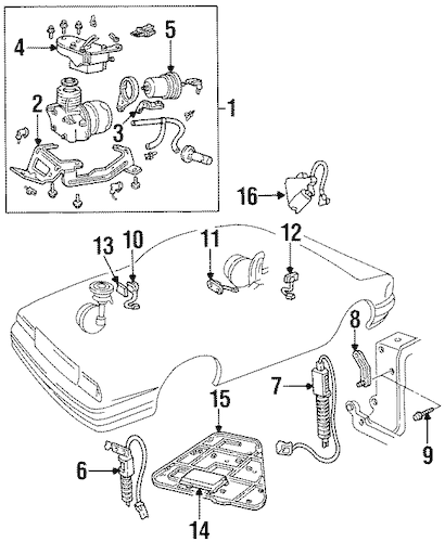 RIDE CONTROL COMPONENTS for 1994 Cadillac DeVille
