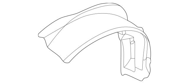 Genuine OEM 1995-2005 Pontiac Sunfire Fender Liner
