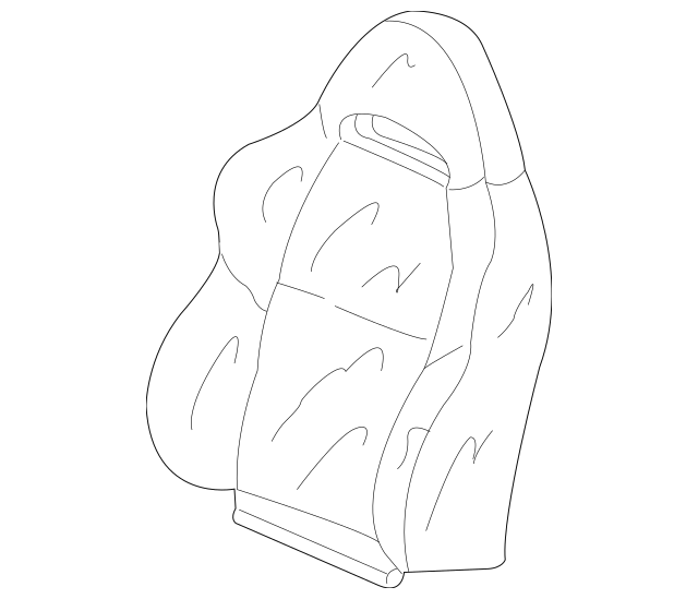 2005-2006 Acura RSX HATCHBACK Cover, R Front Seat-Back
