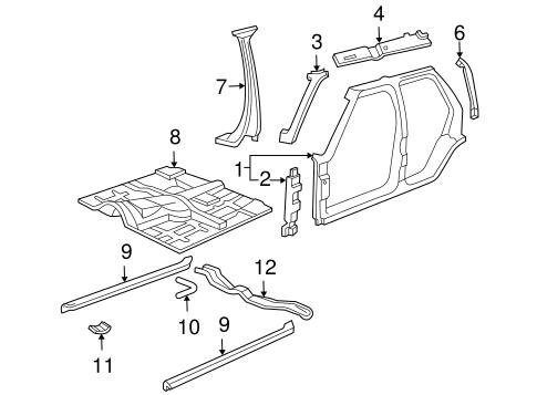 OEM FLOOR & RAILS for 2001 Chevrolet Blazer