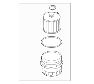 Genuine OEM 2015-2019 Volvo Oil Filter Housing 31321084