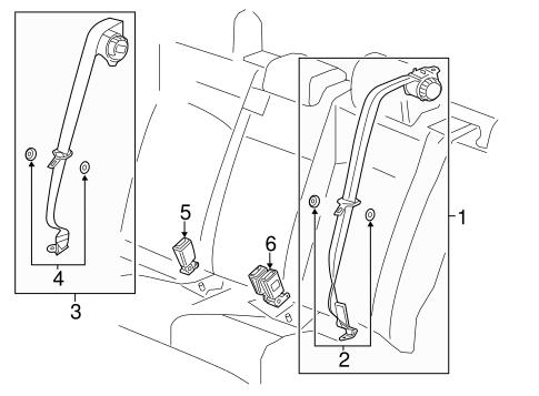 OEM 2013 Chevrolet Sonic Rear Seat Belts Parts