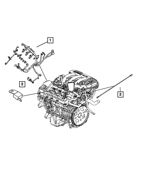 Wiring-Engine & Related Parts for 2006 Dodge Magnum