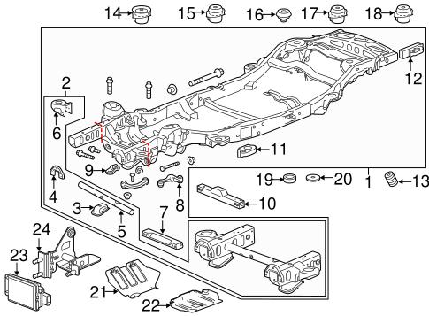 OEM 2017 Chevrolet Tahoe Frame & Components Parts