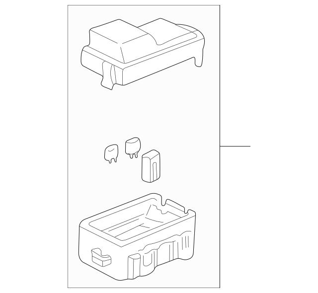 1996-2001 Honda Box Assembly, ABS Fuse 38230-S01-003