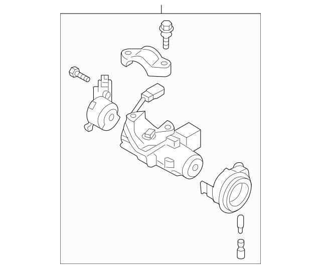 2005-2007 Subaru Ignition Lock Cylinder 83191AG08A