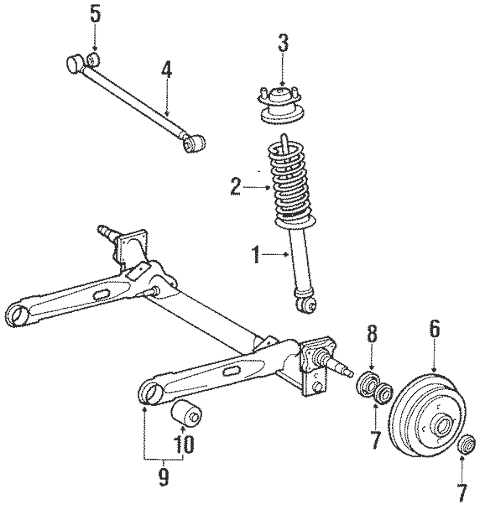 Genuine OEM Axle Housing Parts for 1989 Toyota Tercel EZ