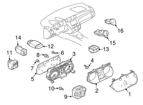 Instruments & Gauges for 2005 Mitsubishi Outlander