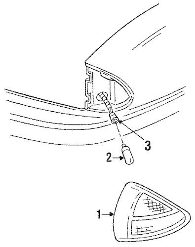 SIDE MARKER LAMPS Parts for 1999 Pontiac Bonneville