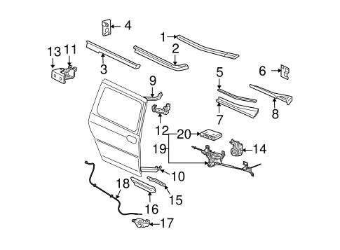 OEM 2005 Chevrolet Uplander Tracks & Components Parts