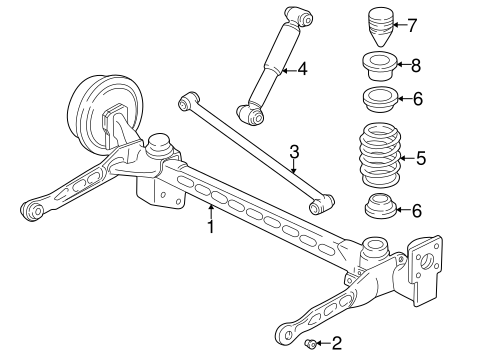 OEM REAR SUSPENSION for 2005 Pontiac Montana