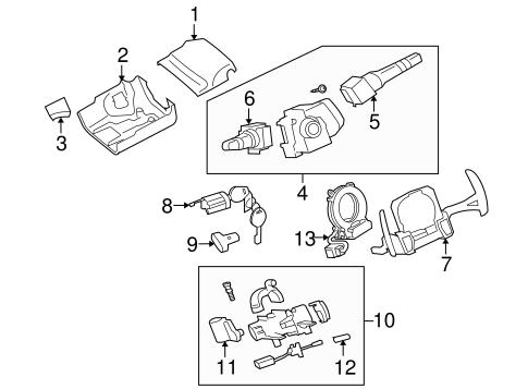 Shroud, Switches & Levers for 2008 Mitsubishi Lancer ES