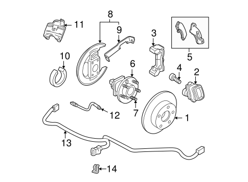Parking Brake Parts for 2001 Buick Regal