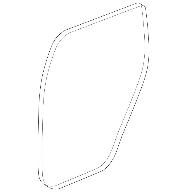 2014-2017 Acura MDX 5-DOOR Seal, Rear Door Opening 72815