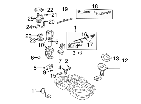 Fuel System Components for 2001 Toyota Highlander