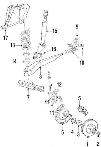 FRONT SUSPENSION for 1985 Ford F-150