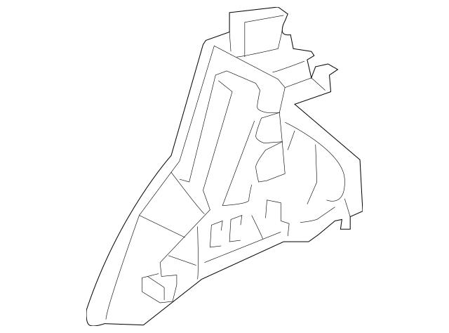 2006-2011 Honda CIVIC COUPE Wheelhouse, R Rear 64330-SVA