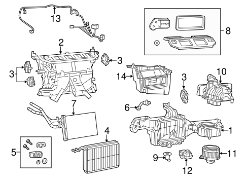 Evaporator & Heater Components for 2016 Dodge Challenger