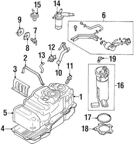 fuel filter 1986 honda accord