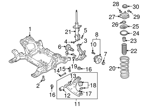 Suspension Components for 2010 Suzuki Grand Vitara