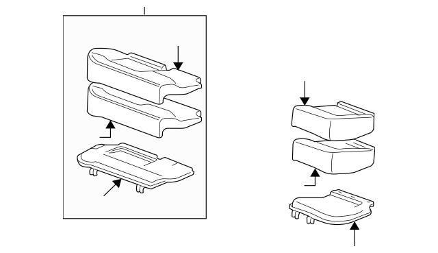 2015-2016 Chevrolet Impala Limited Seat Cushion 19328797